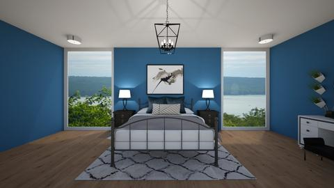 Teal Metal Bedroom - Modern - Bedroom - by tcooney