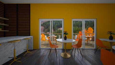 White and Orange Dining - by Hansitha Designs