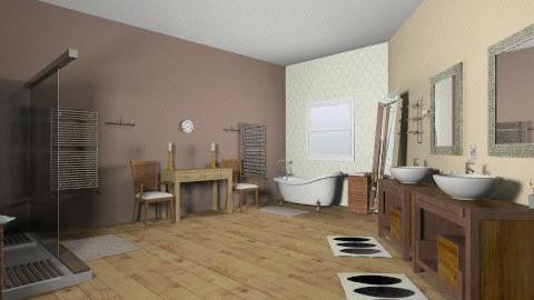 Mother bathroom - Rustic - Bathroom  - by coccinelledu28