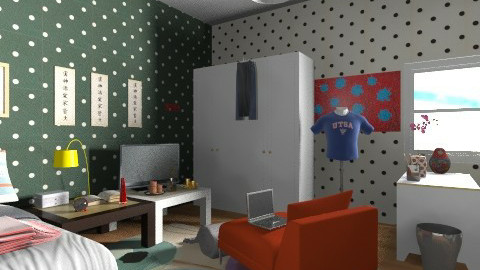 bedroom - Retro - Bedroom  - by morele