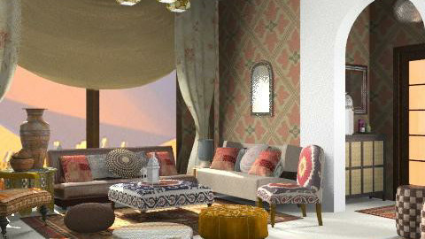 marocan - Rustic - Living room - by Cejovic Andrijana