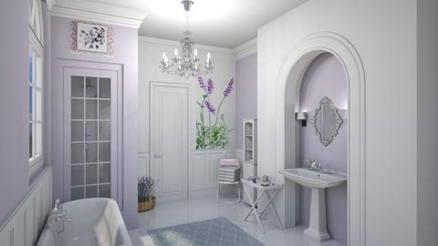 lavender bathroom - Bathroom  - by fippydude