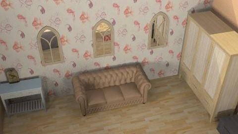 Bedroom Master - Rustic - Bedroom  - by funkymonkey94