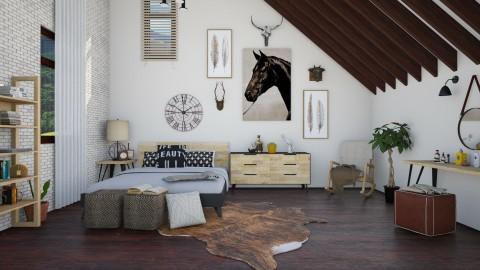Attic Bedroom - Eclectic - Bedroom  - by DeborahArmelin