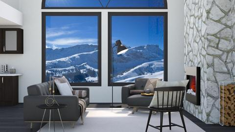House in the Mountains - Living room  - by ab1300