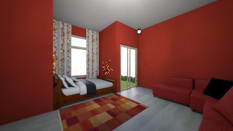 Burning Sienna and Sponge - Bedroom  - by Natalie_2021