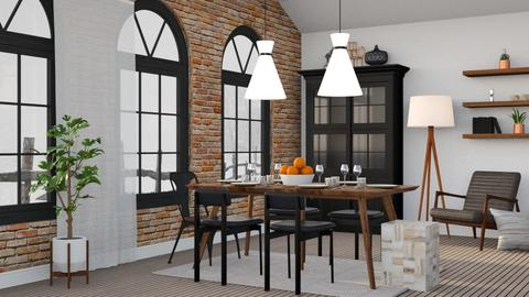 Industrial Farmhouse - Dining room  - by millerfam