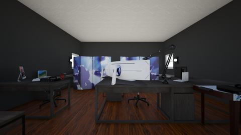 logans gaming room - Modern - Bedroom  - by logan185sams