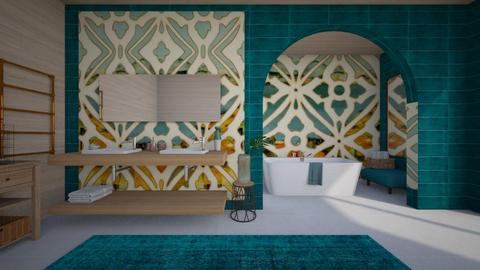 turquoise - Bathroom - by ana111