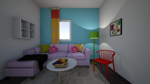 colorful living room - Living room  - by miyaley8