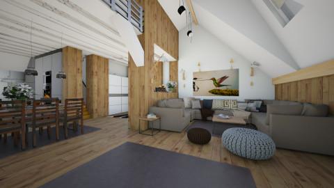 attic loft - Modern - Living room - by Evangeline_The_Unicorn