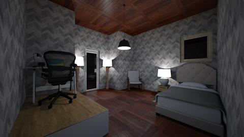 modern bedroom - Rustic - Bedroom  - by oAbaza978