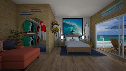 surf bdrm - Bedroom - by Kylie Awa