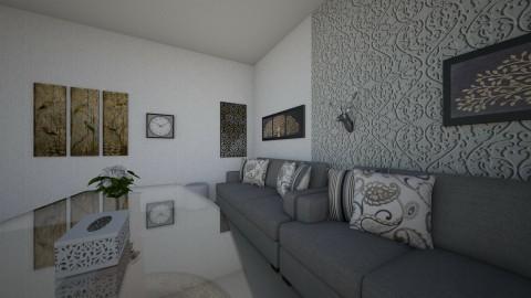 Elegant Grey - Classic - Living room - by ananyarajesh02