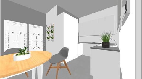 cocina en u - Kitchen  - by soniavshp