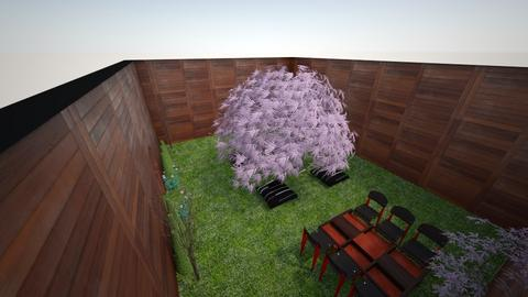 Japanese room with tree - Garden  - by xSphinxx