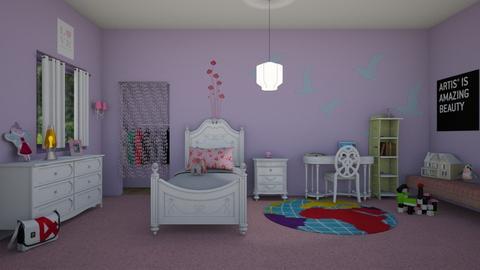 1st Grade Girl Harper - Bedroom  - by KarJef