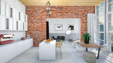 Industrial Model Home - Kitchen  - by bgref