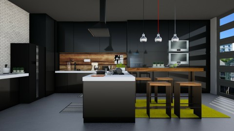 Dark Kitchen - Kitchen  - by Mihailovikj Mimi