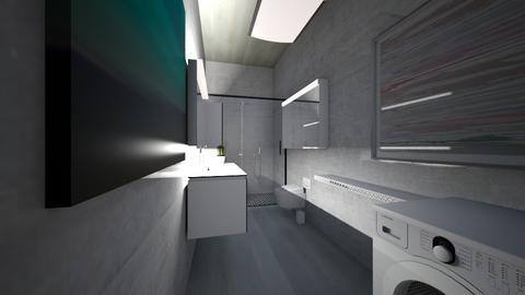 modern small bath - Modern - Bathroom  - by danisovski