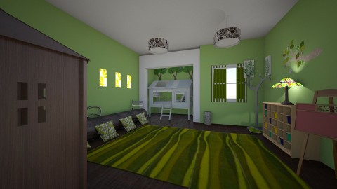 treehouse bedroom - Eclectic - Kids room - by kla