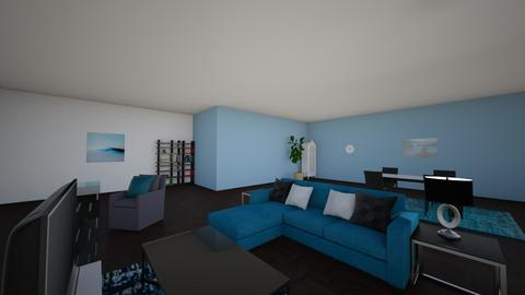 turquoise extravaganza  - Modern - Living room  - by higgins88888