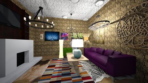 craziness - Retro - Living room - by pigsfordays