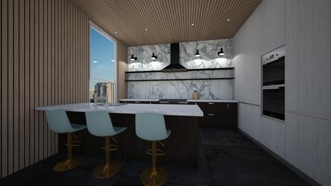 kitchen design white - Kitchen  - by erladisgudmunds