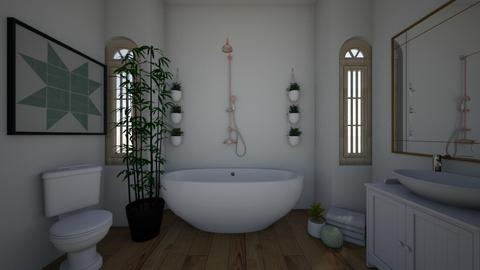 calm bathroom - Classic - Bathroom  - by Magsnumber1