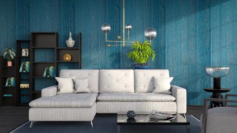M_ Dark blue - Living room - by milyca8