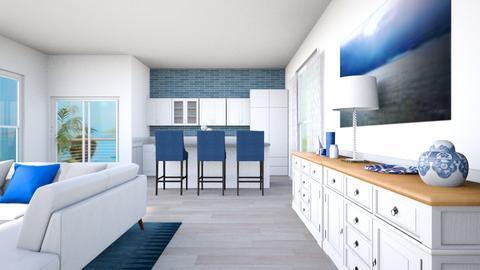Modern kitchen and living - by theIrishdog