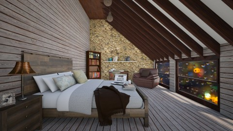 Rustic Bedroom - Rustic - Bedroom  - by Design_CG