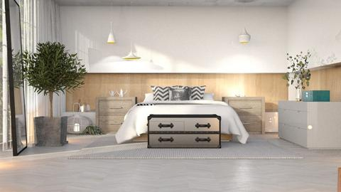 CUARTO 15 - Minimal - Bedroom  - by YERLINARMY