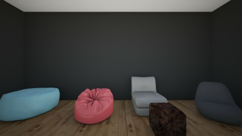 Bean bag room - Living room  - by Lialisse Nunez