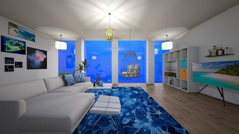 Undersea living room - Modern - Living room  - by finsfurball