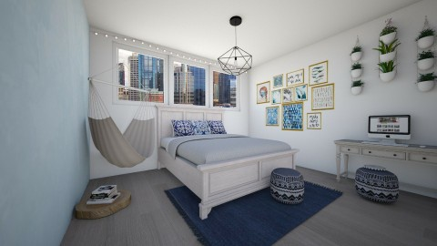 blue2 - Bedroom - by Kylie Gallant