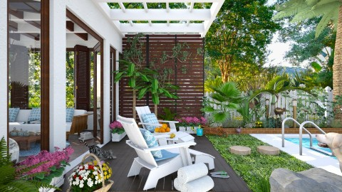 Design 302 Key West Living - Garden - by Daisy320