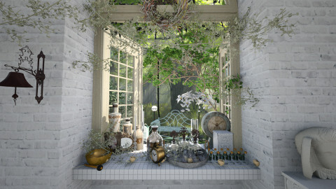 Garden Window - Vintage - Garden  - by evahassing