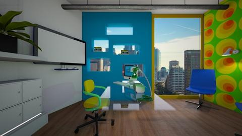 blue green and yellow - Modern - Office - by timeandplace