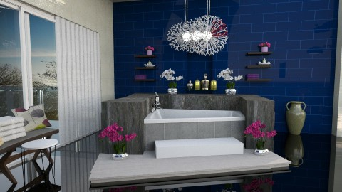 Bathroom6 - Modern - Bathroom  - by ZsuzsannaCs