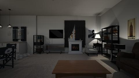 City Apartment Night - Living room  - by mspence03
