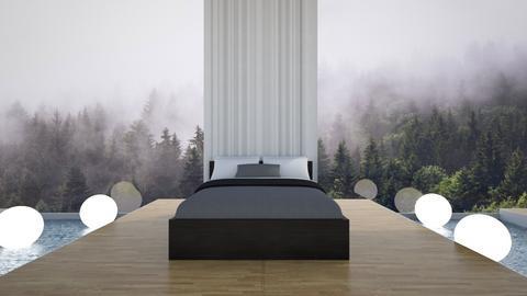 Mountain water bed - Bedroom - by CatsFurLife