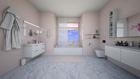 Pink bathroom - by The_girl26