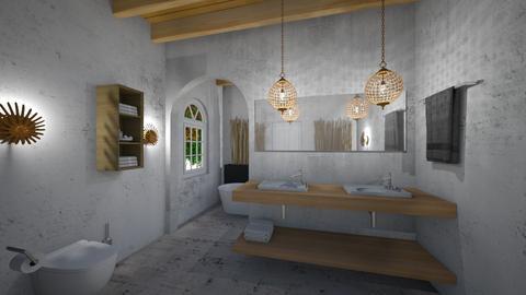 Cement_Wood _Bath - Classic - Bathroom  - by Nikos Tsokos