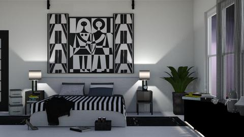 above the bed - Modern - Bedroom  - by nat mi