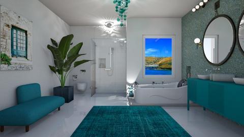 Island Vibes Bathroom - by Themis Aline Calcavecchia
