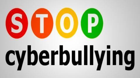 STOP CYBER BULLYING NOW   - by designcat31