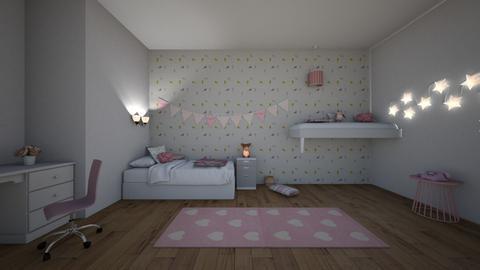 Sisters twin room - Modern - Bedroom  - by matildabeast
