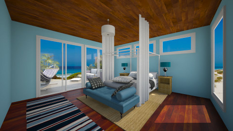 Seaside  - Country - Bedroom  - by ellytrux33