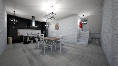 Modern Black Kitchen - Modern - Kitchen  - by avokado2765